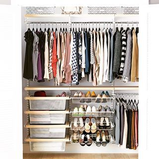 A Place Just To Hang Shirts Means You Can Use All The Space Below For Racks And Drawers No Closet Solutions Best Closet Systems Closet System