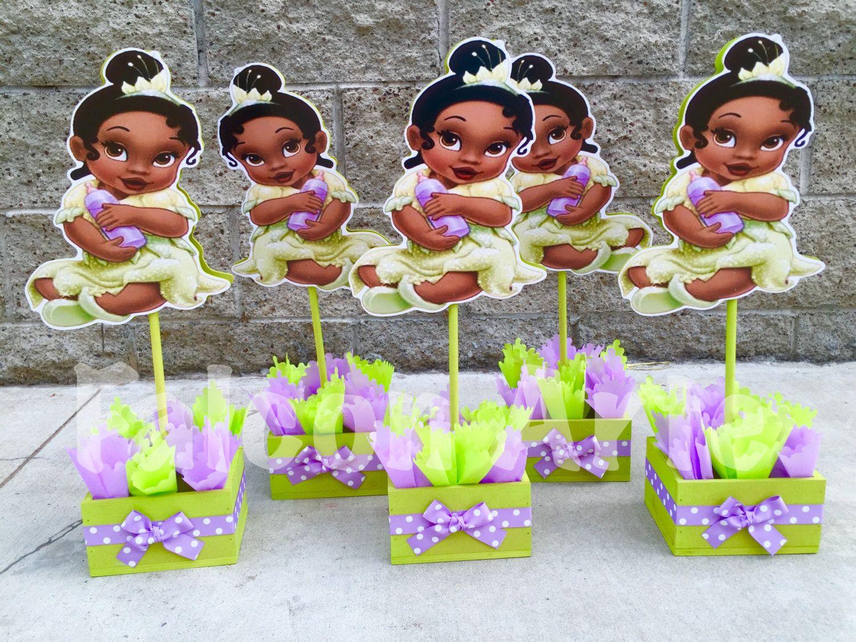 Princess And The Frog Birthday Centerpiece Baby Princess Tiana