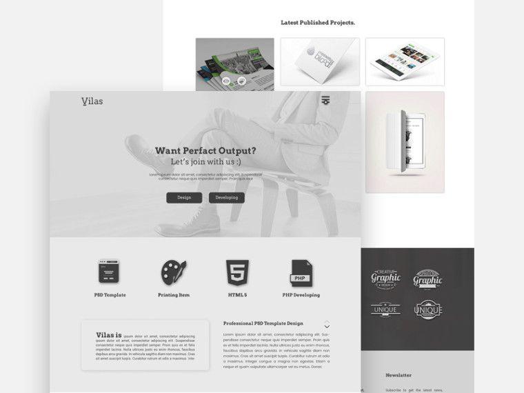 Vilas Free Portfolio Template | Web design | Pinterest