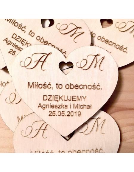 Magnes Podziekowanie Dla Gosci Wedding Personalized Items