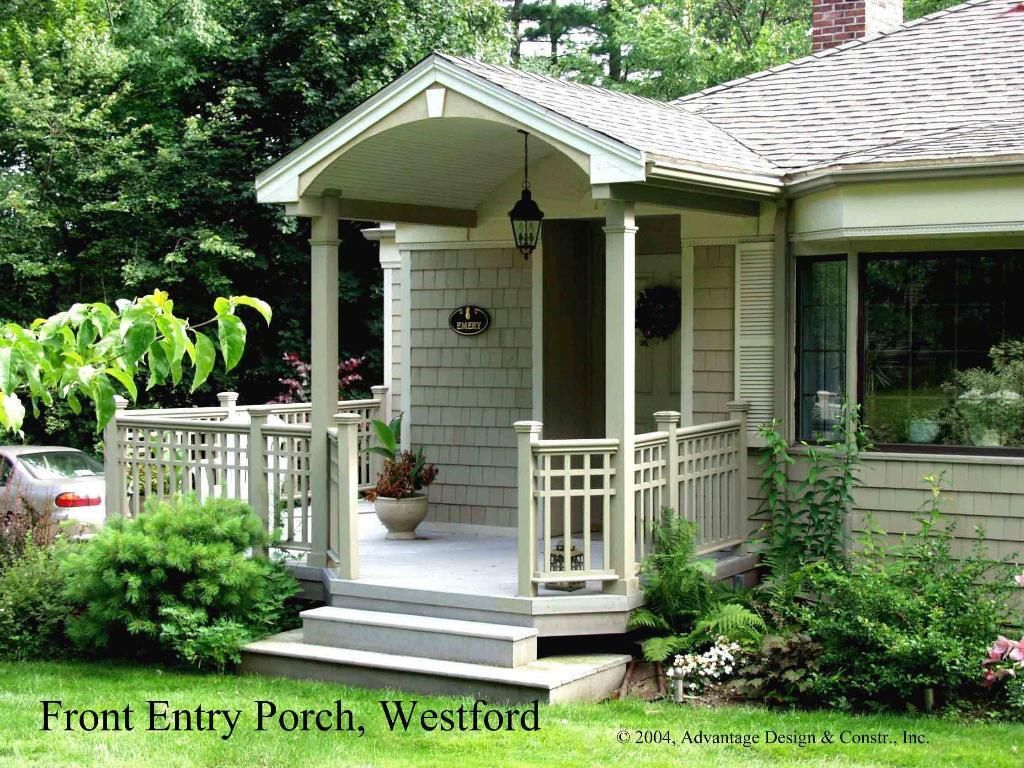 Front porches covered entry in westford ma front for Front porch plans free