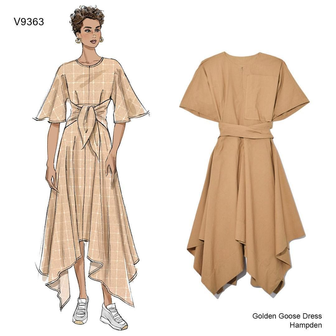 Sew The Look Tm Make This Very Easy Vogue Shaped Hem Dress With