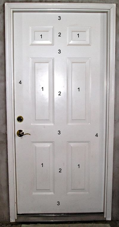 Steel Door Painting Sequence-Paint By The Numbers | Home Decor Ideas ...