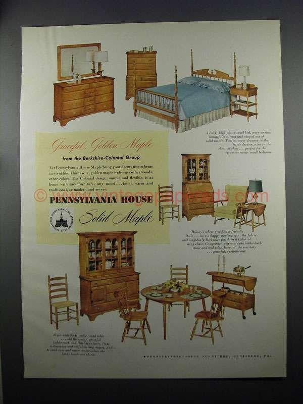 1953 Pennsylvania House Berkshire Colonial Furniture Ad