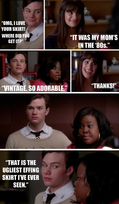 Glee Mixed With A Bit Of Mean Girls Glee Memes Glee Funny Glee