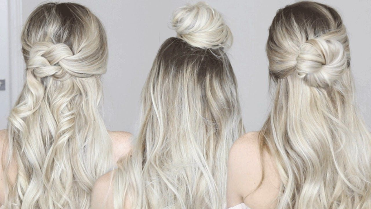 Easy & Simple Half-Up Hairstyles | Perfect for Spring, Long hair ...