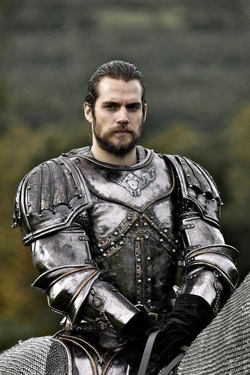 henry cavill bearded and in armor the tudors a true prince