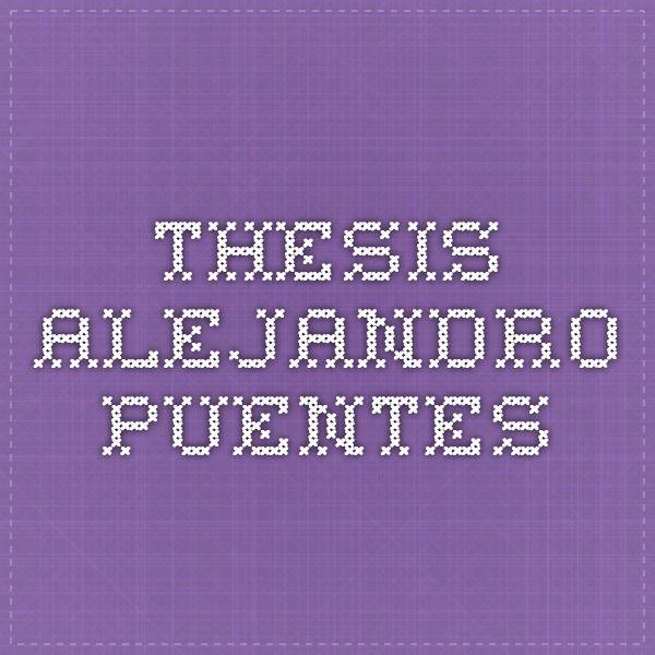 Thesis Alejandro Puentes
