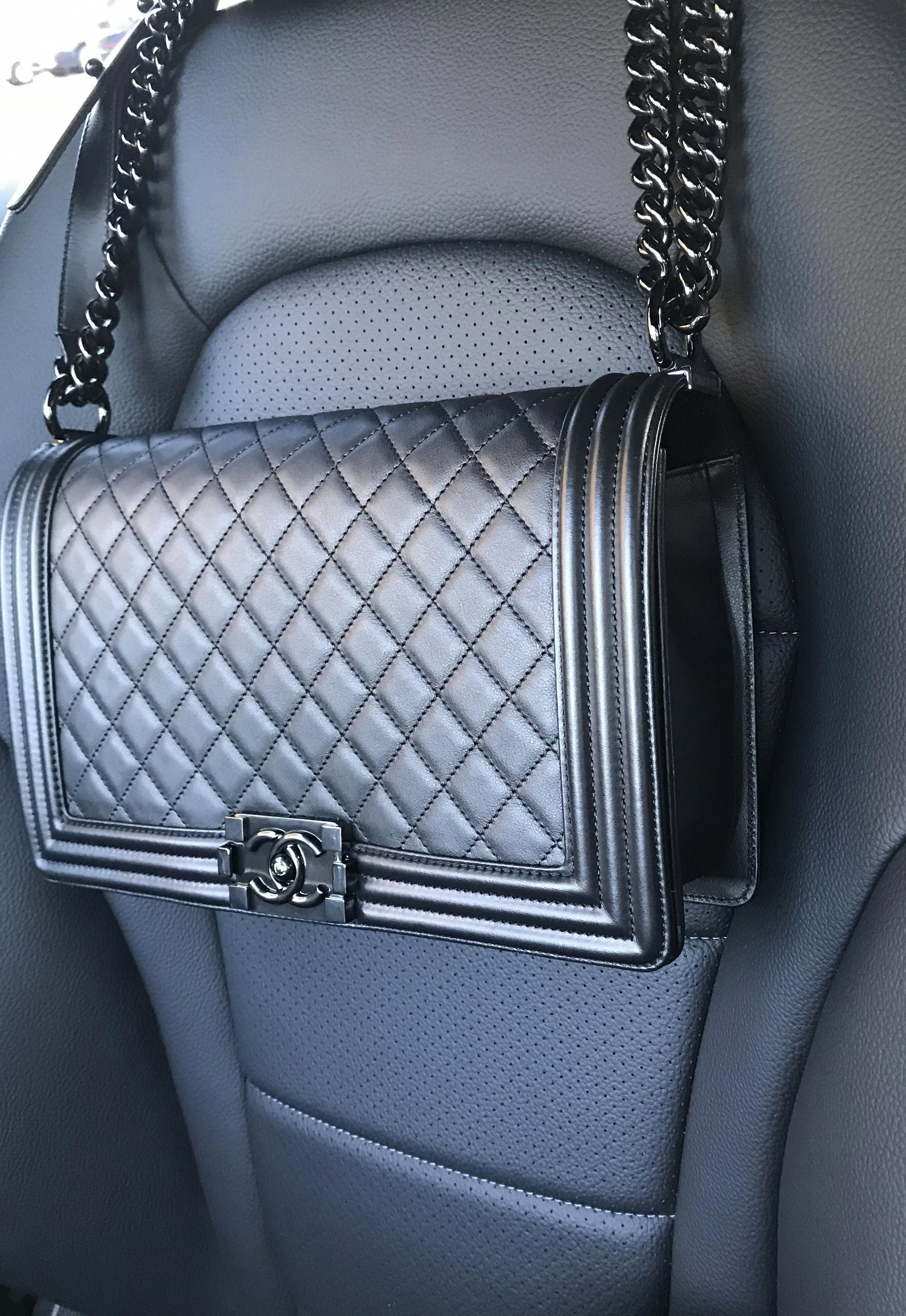 "c7ac031dd1f0 My "" So Black"" Boy! 🖤 #Chanel #Chanelhandbags 