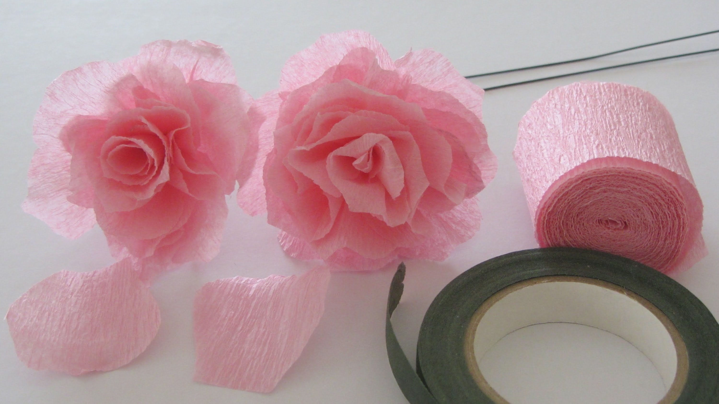 How To Make A Crepe Paper Rose With A Roll Of Crepe Paper I Love