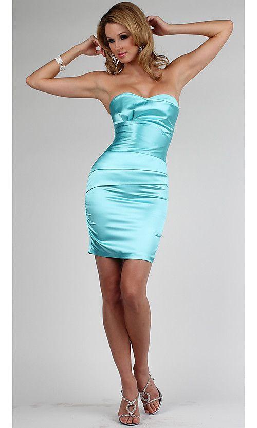 Simple Short Satin Dress - satin and Shine - Pinterest - Shorts ...