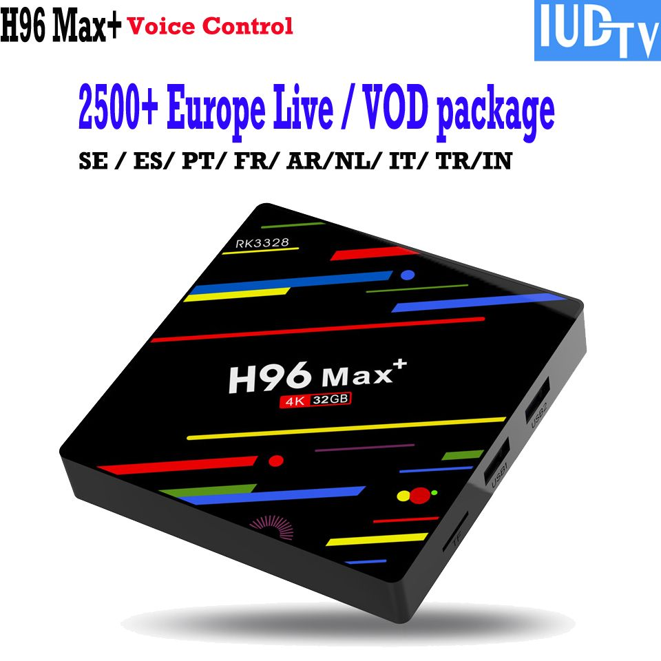 Voice control 4K TV Box android 8 1 Swedish iptv channels Greek