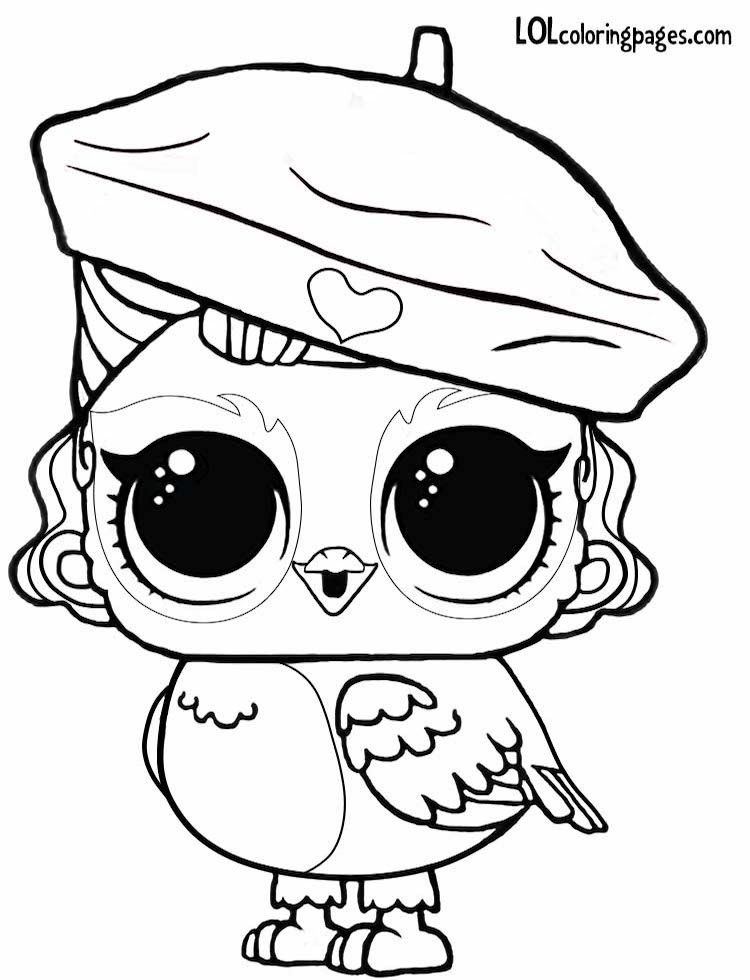 Angel Wings Eye Spy Lol Surprise Pets Coloring Page Puppy