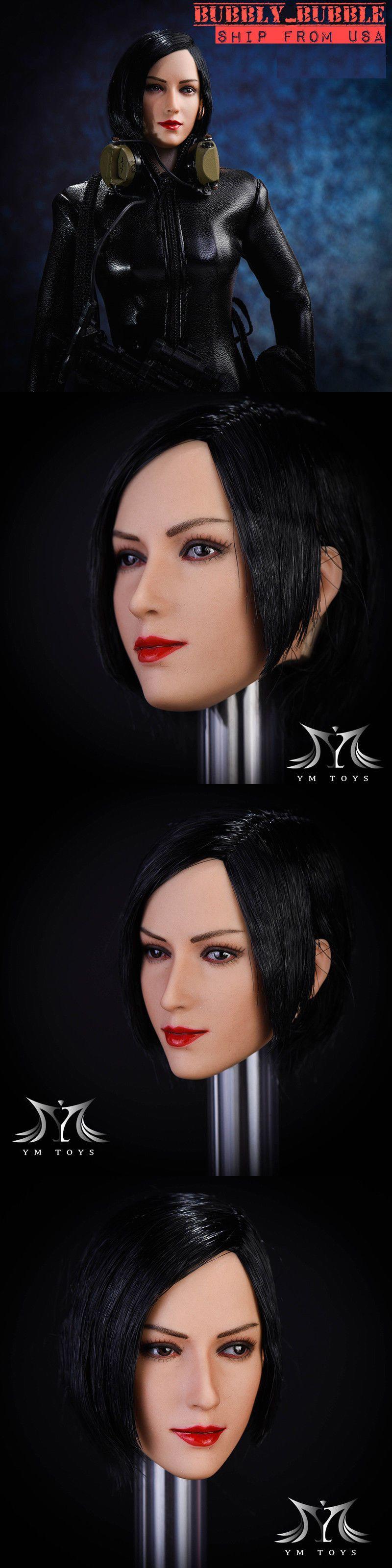 "1//6 Resident Evil Ada Wong Head Sculpt SHORT BLACK HAIR For 12/"" PHICEN Figure"