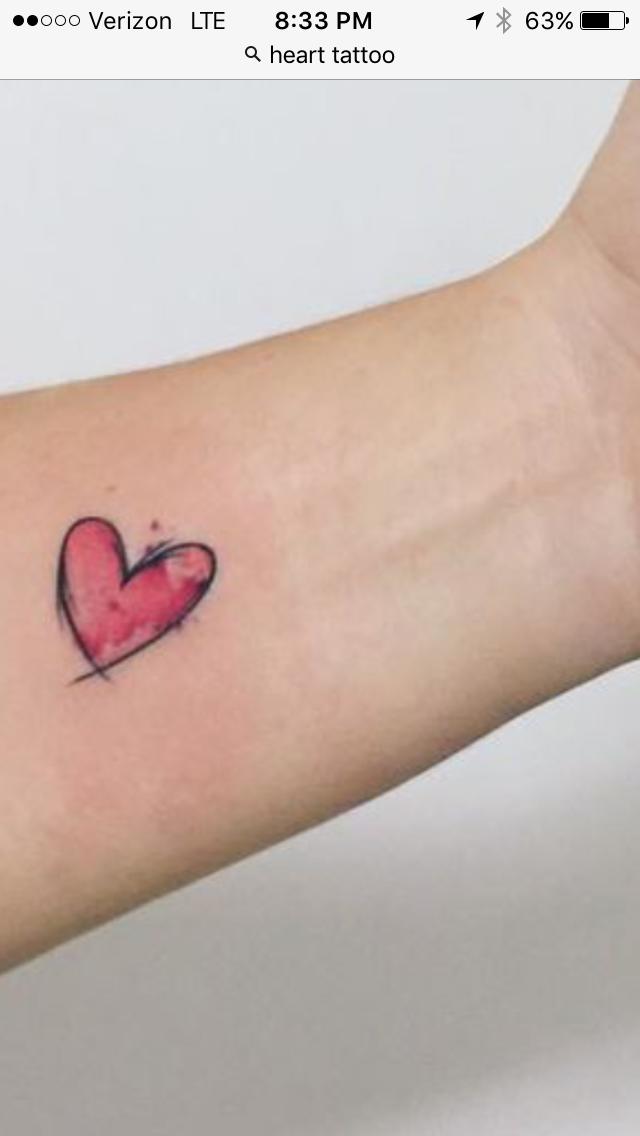 Photo of heart tattoo