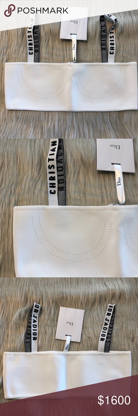 f19669fed5709 Authentic Dior Bralette Bandeau. White size Small Brand new with tags white bandeau  bralette in white size small. Authentic with tags still attached