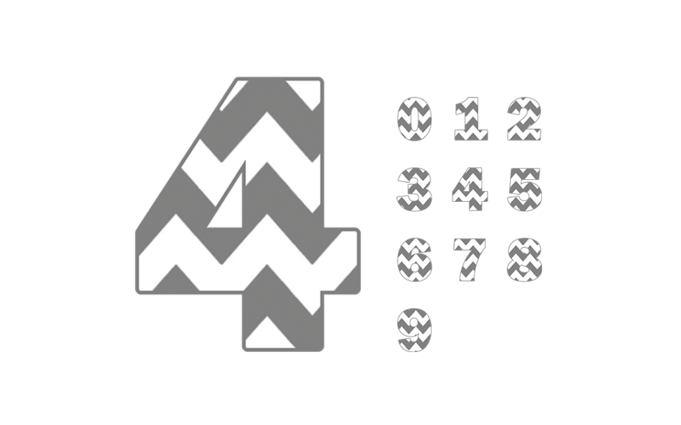 Download Free SVG Chevron Numbers - Paper Cloud Prints | Chevron ...