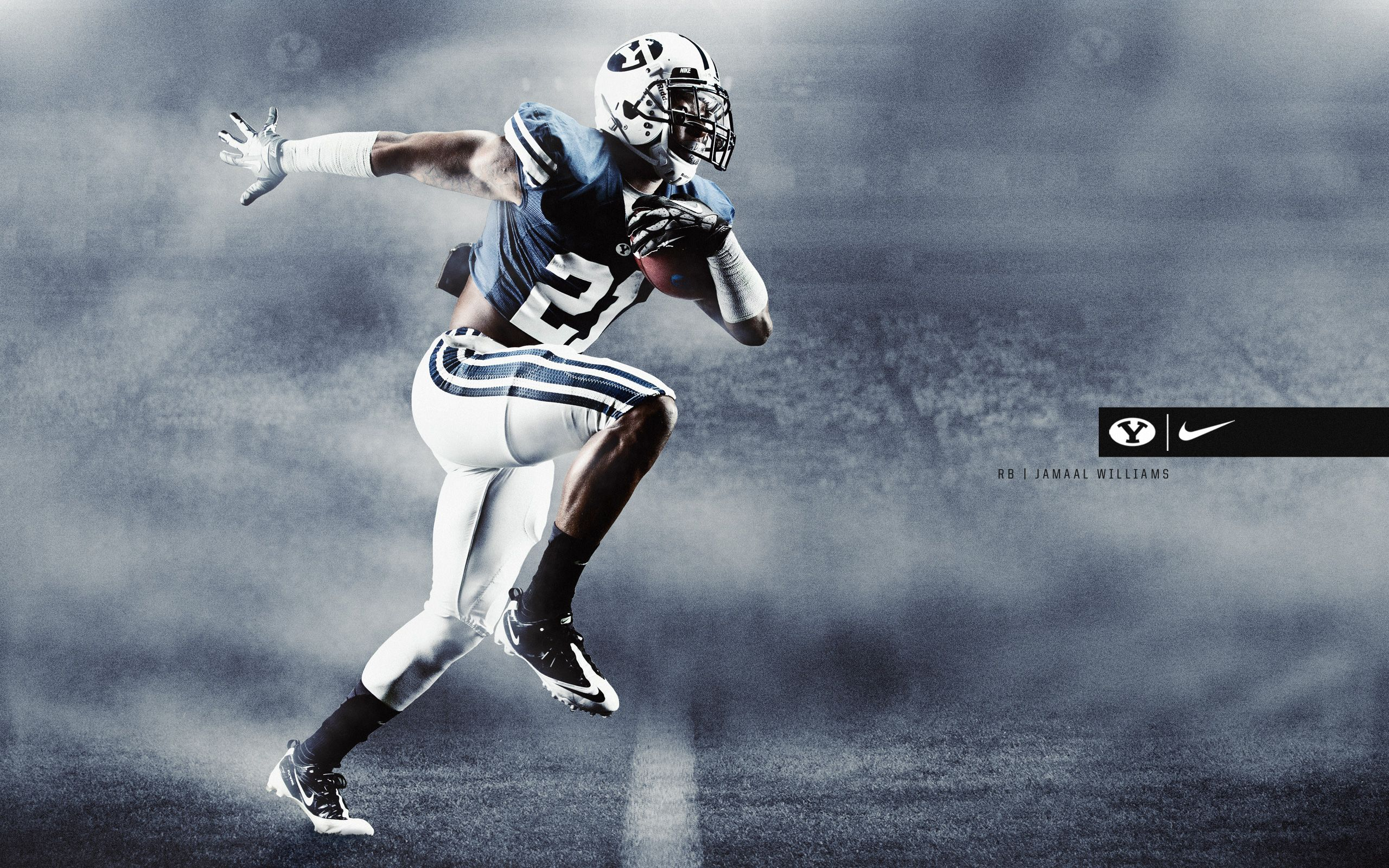 Jamaal Williams Wallpaper Byu Football Byu Sports Byu Cougars