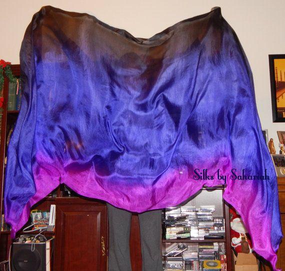 Sahariah's Silk Belly Dance Veil Rectangle by SilksbySahariah