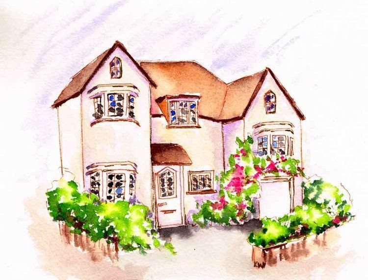 Cosy Home 7 Pen And Wash Pen Wash Pen Watercolor Arches