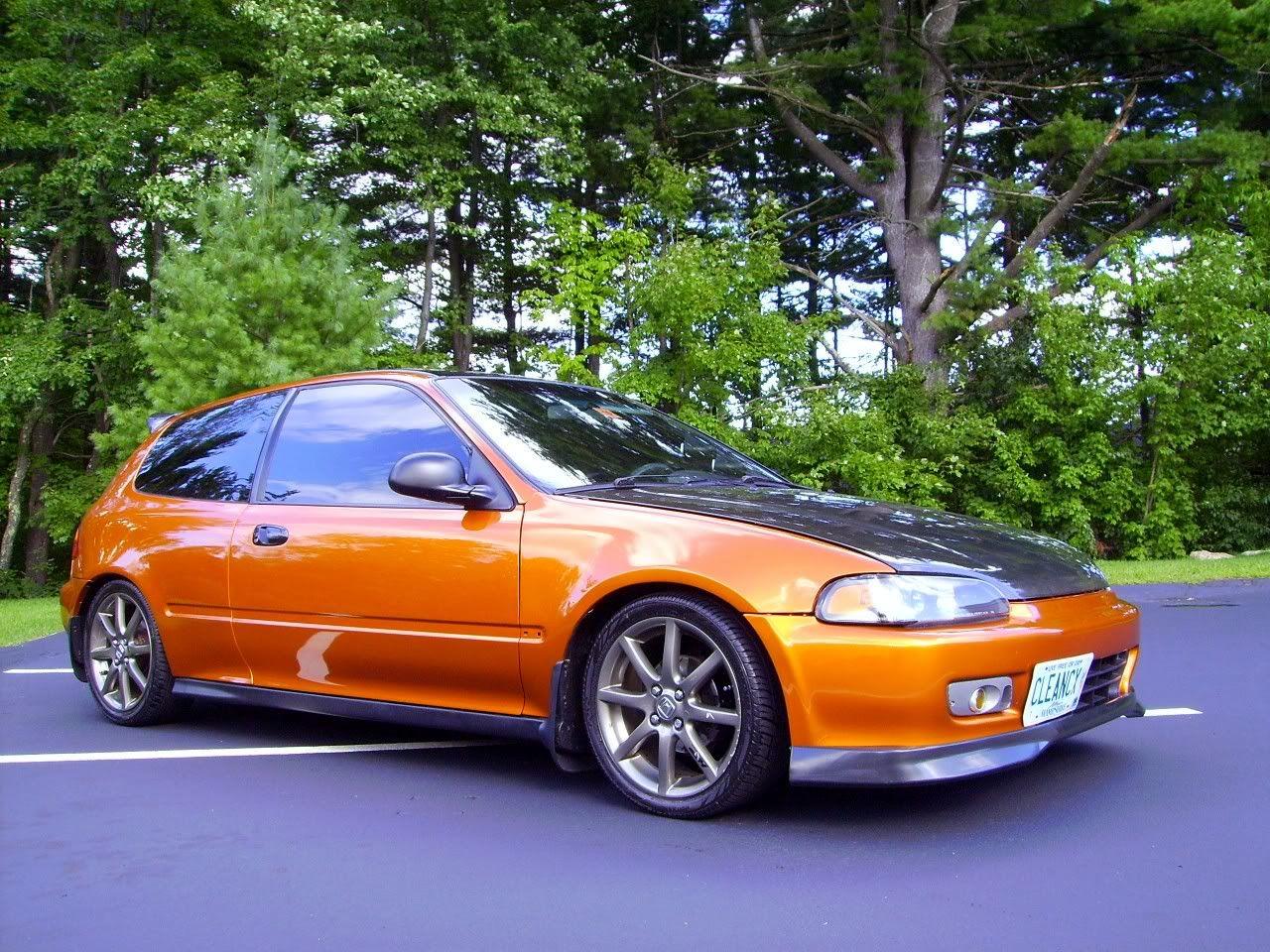 Orange Honda Civic Hatchback Future Cars Honda Civic Hatchback Honda Crx Civic Hatchback
