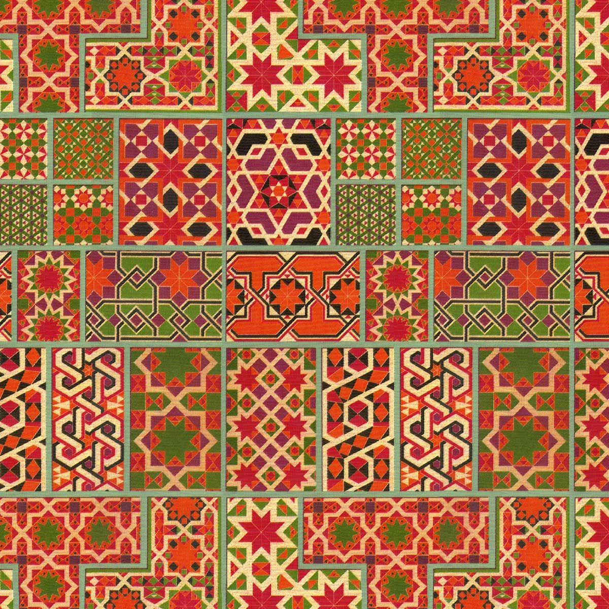 Moroccan Rug Custom Vintage Retro Wallpaper