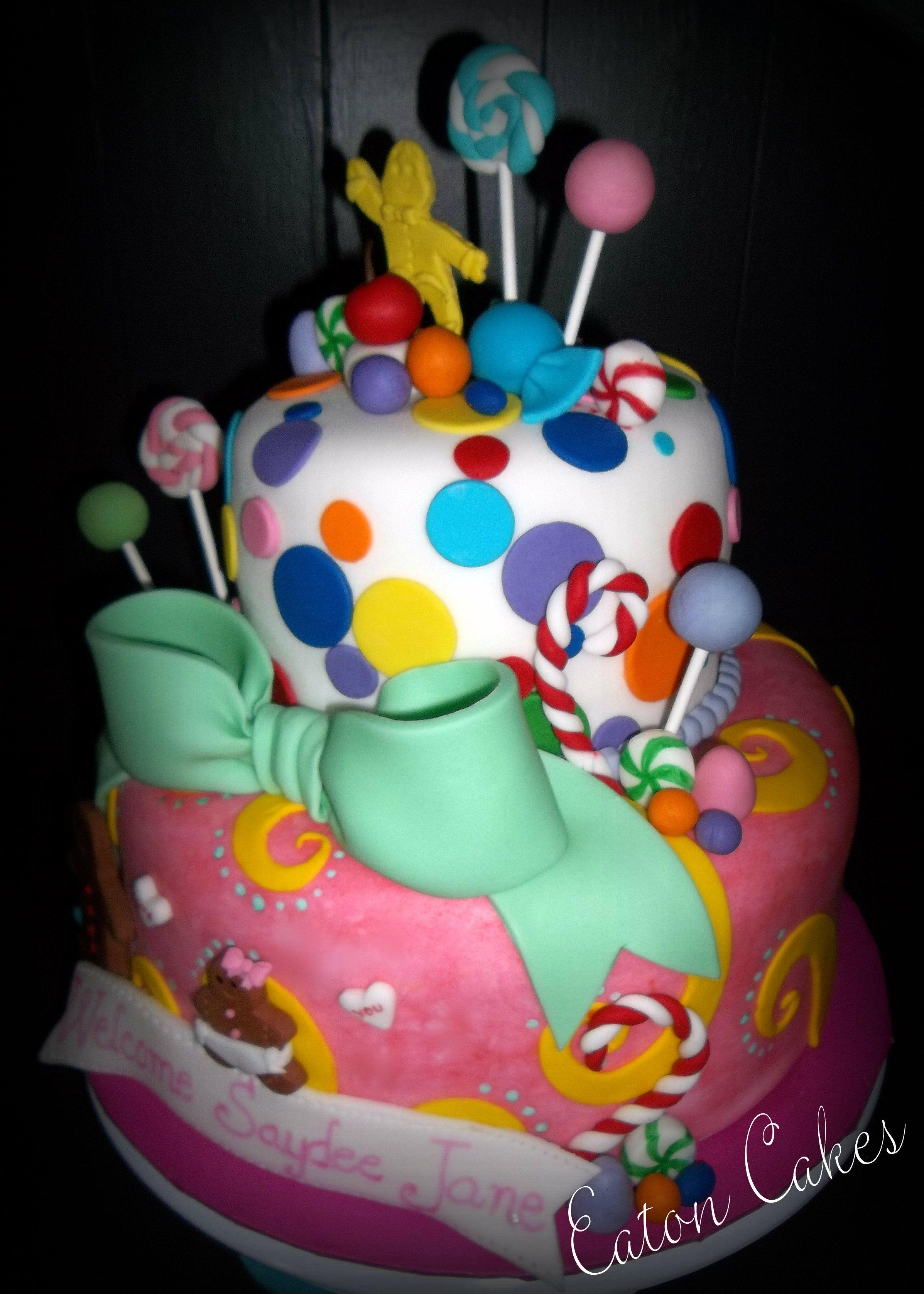 Candyland baby shower cake