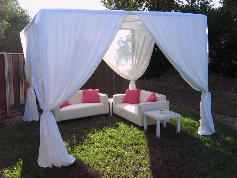 Cabana Tent With Lounge Furniture Would Be Good For Hanging Around Outside I Love It