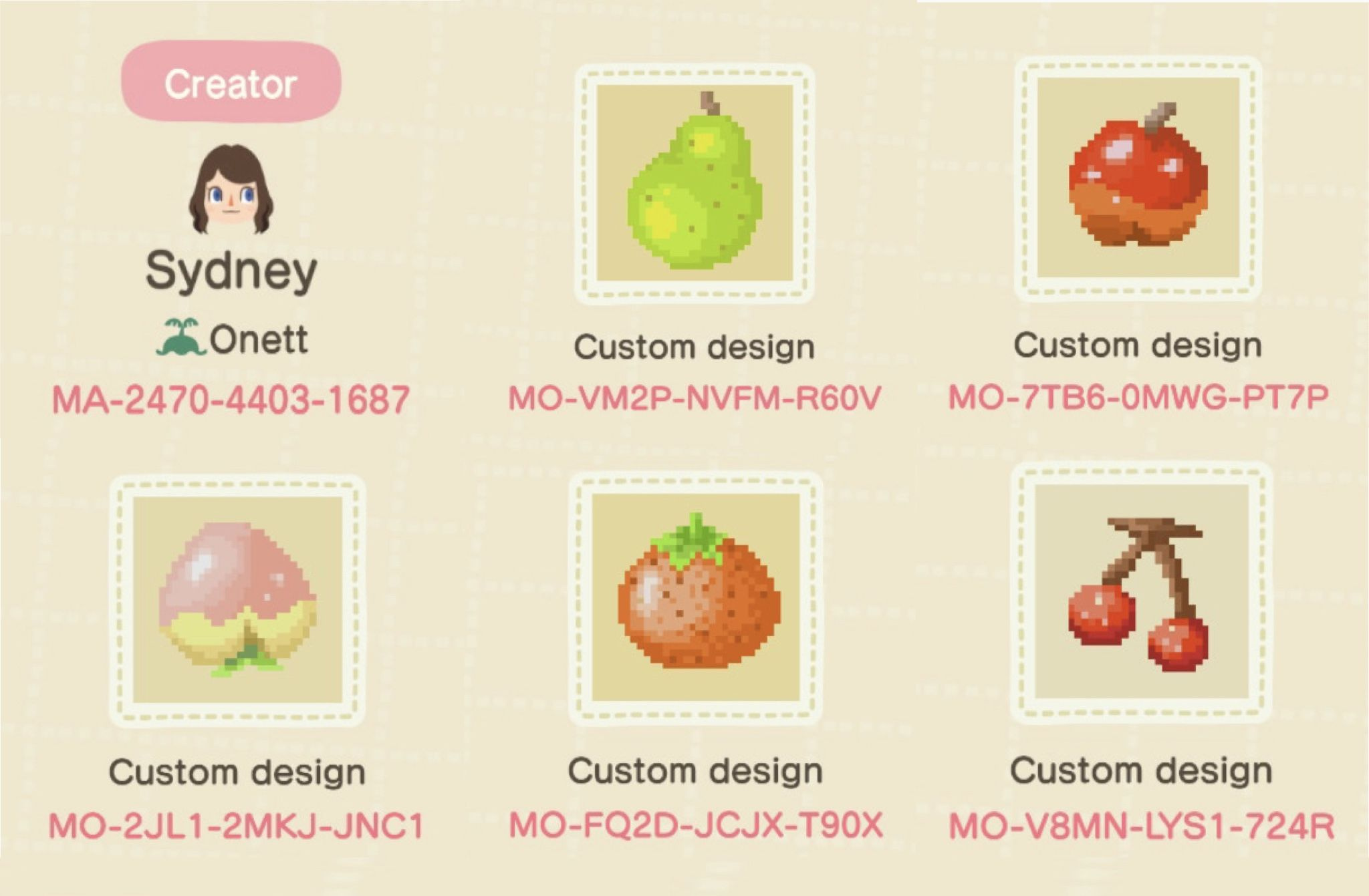 Fruit Signs For Acnh Animal Crossing Qr Animal Crossing Orchard Design