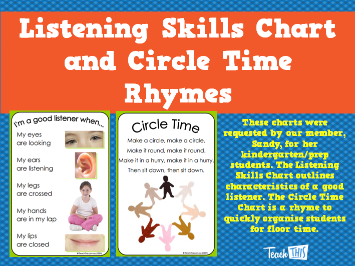 Listening Skills Chart And Circle Time Rhymes  Classroom Displays