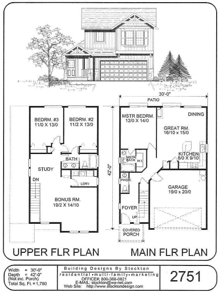 Like Twin Plan We Have Upstairs Different Double Storey House Plans House Plans Double Storey House