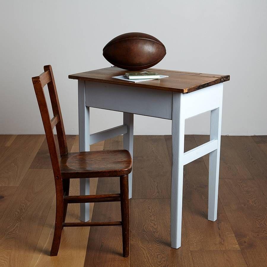 Vintage School Desk And Chair In 2020 Vintage Desk Chair School