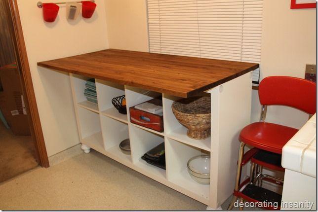 diy bookcase kitchen island. IKEA Expedit Bookcase Turned Kitchen Island/snack Bar Diy Island