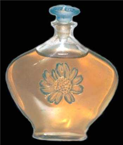 A crystal Fleur Aster perfume bottle from Lalique.