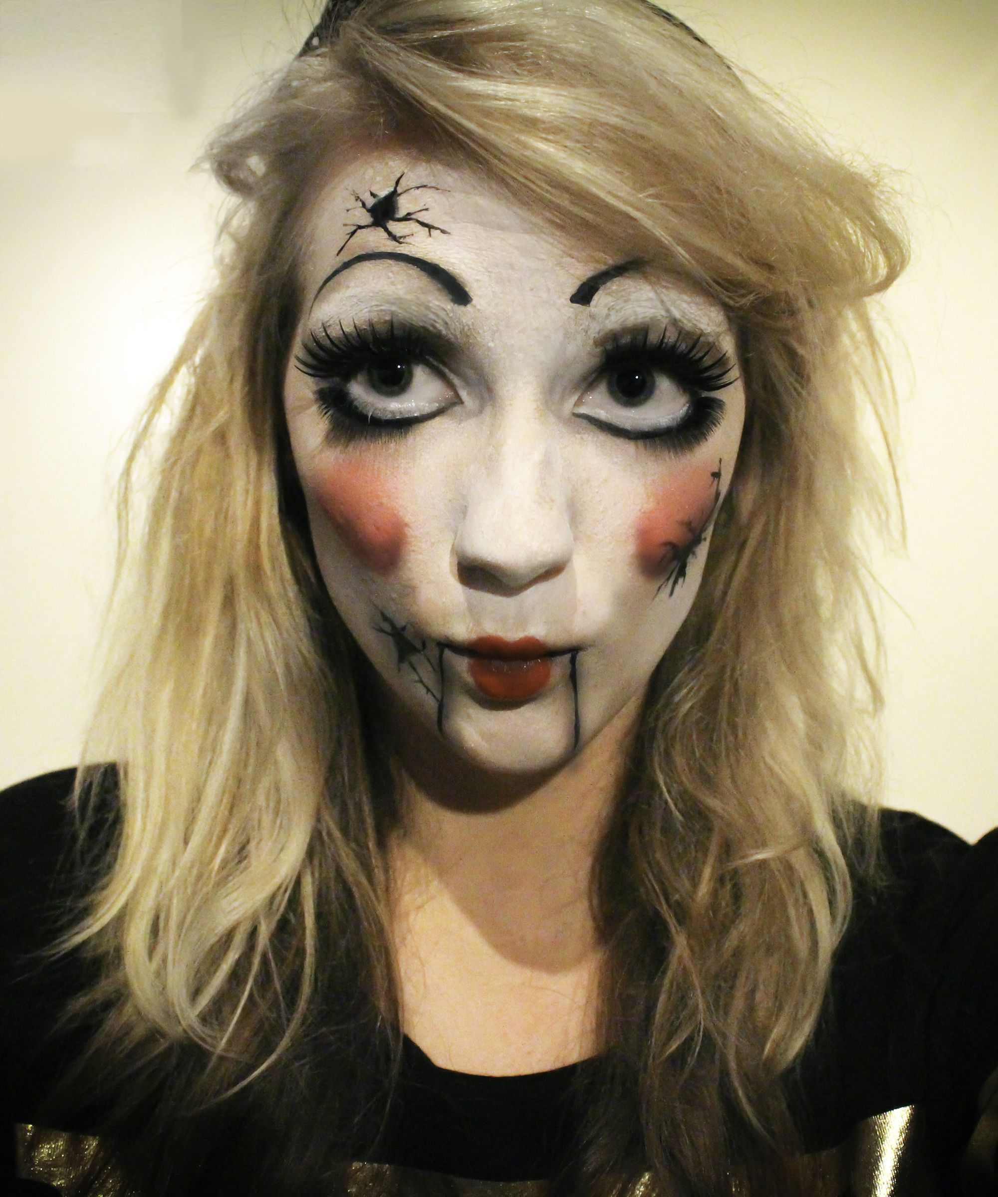 cracked porcelain doll facepaint | makeup - my work | pinterest | makeup