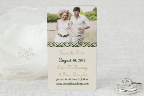 Mini Save the Date Magnets - Celtic Wedding