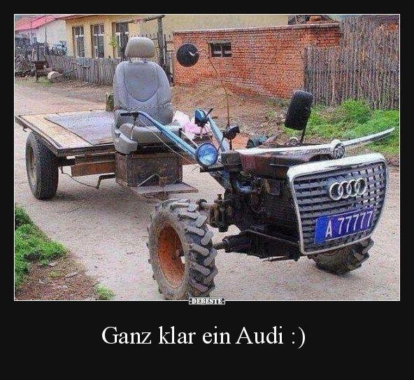 Ganz klar ein Audi :) | Lustige Bilder, Sprüche, Witze, echt witzig   - Bilder -