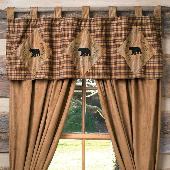 Green Plaid Curtains With Plain Valance Google Search