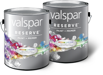 New Valspar Reserve interior and exterior paint with HydroChroma ...
