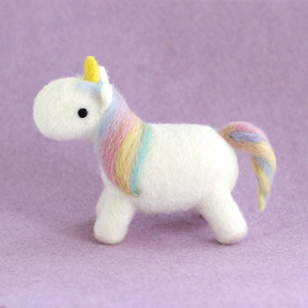 Needle Felted Rainbow Unicorn
