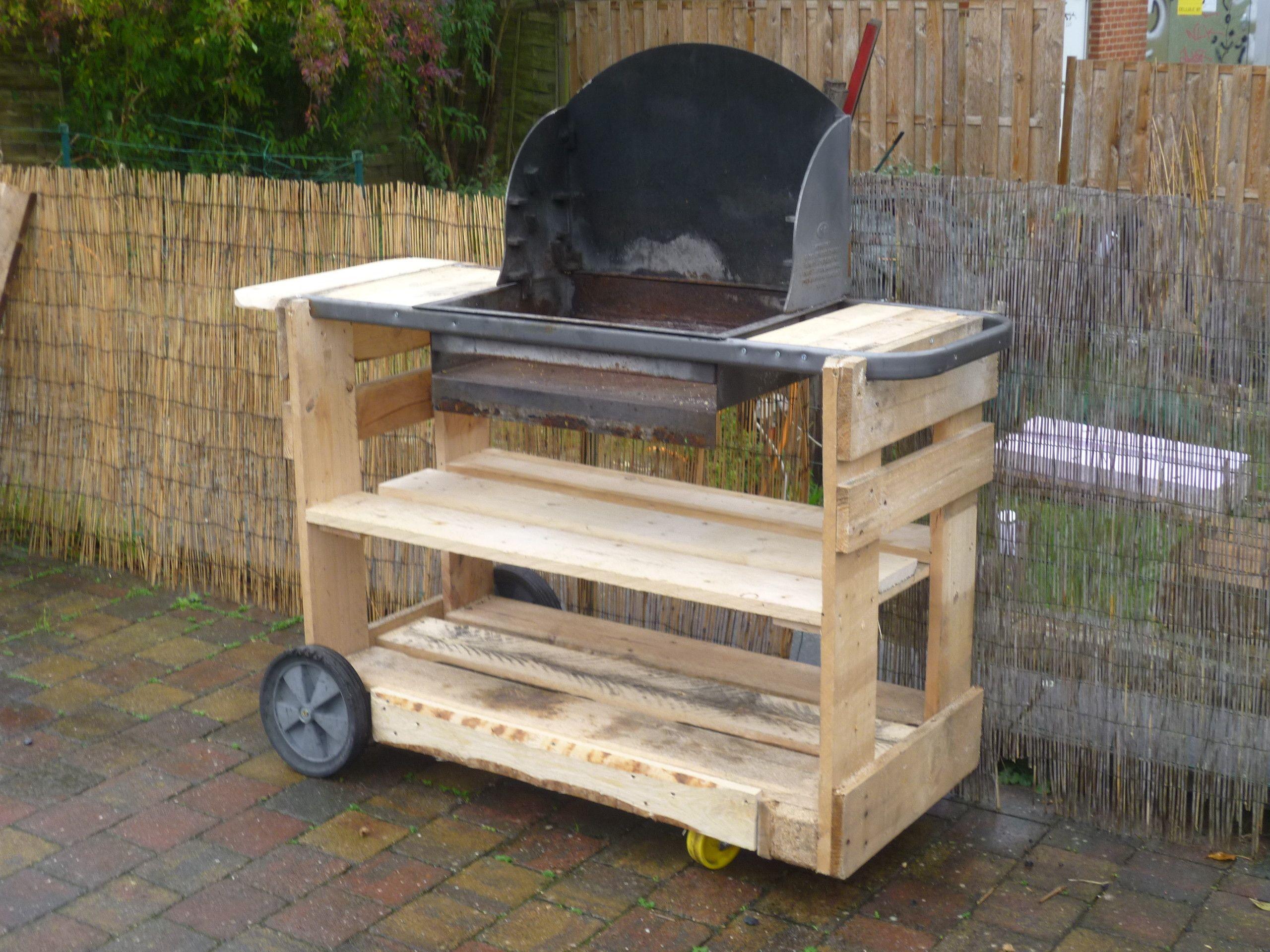 Complete Pallet Garden Set Pallet Ideas 1001 Pallets: My New Pallet Bbq / Mon Nouveau Barbecue