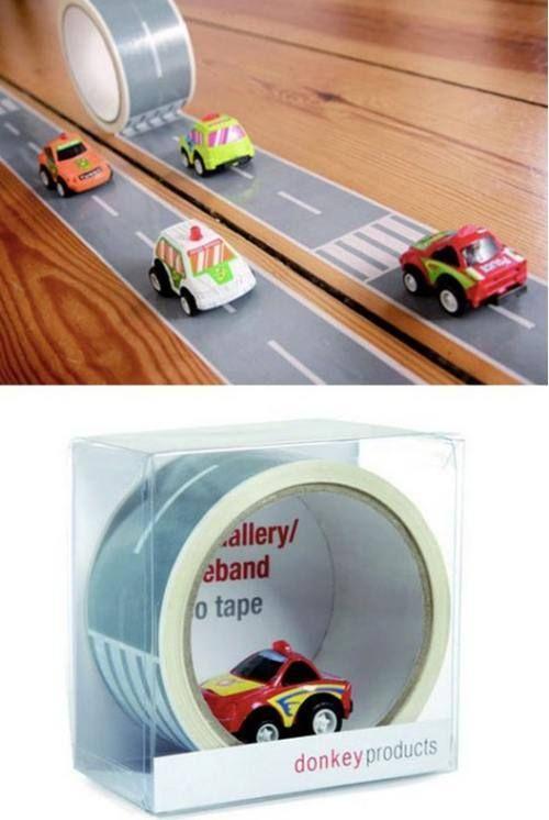 Car track tape!