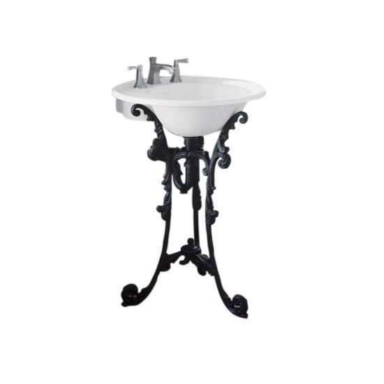 Guest Bath Kohler Ironworks Historic Pedestal Iron Black Finish