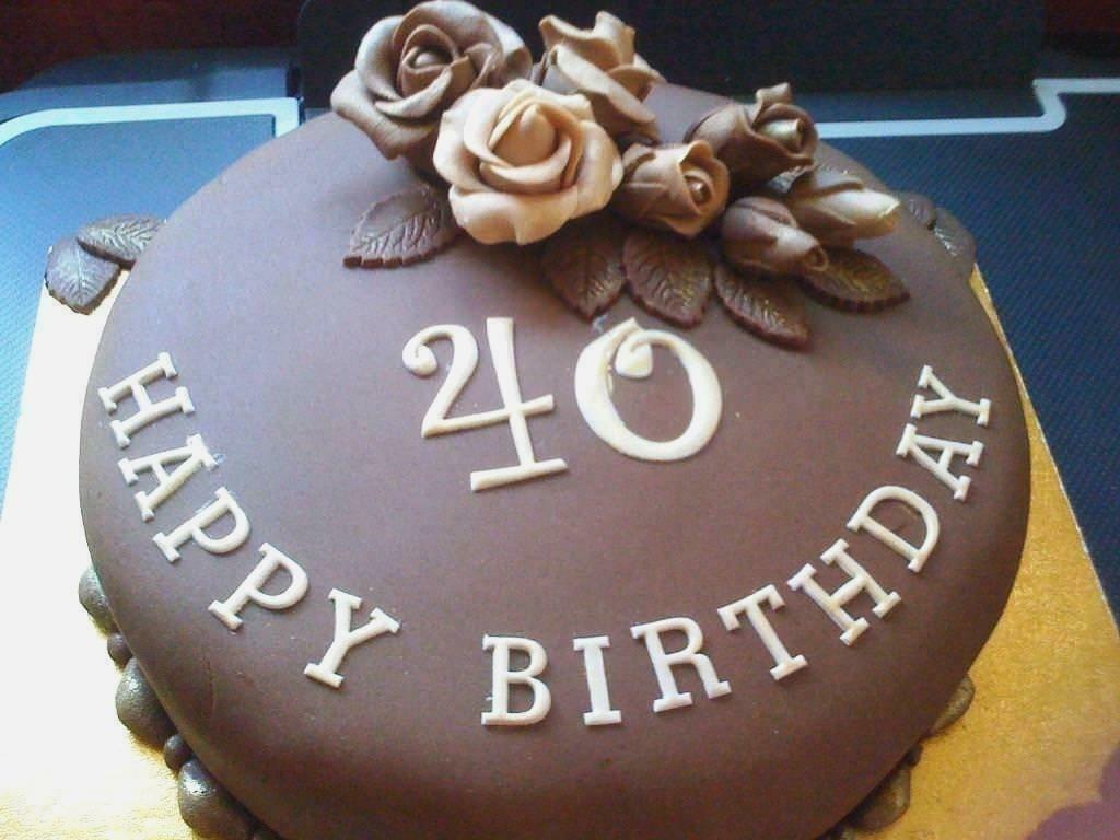 40th birthday cakes for him kue cokelat desain kue