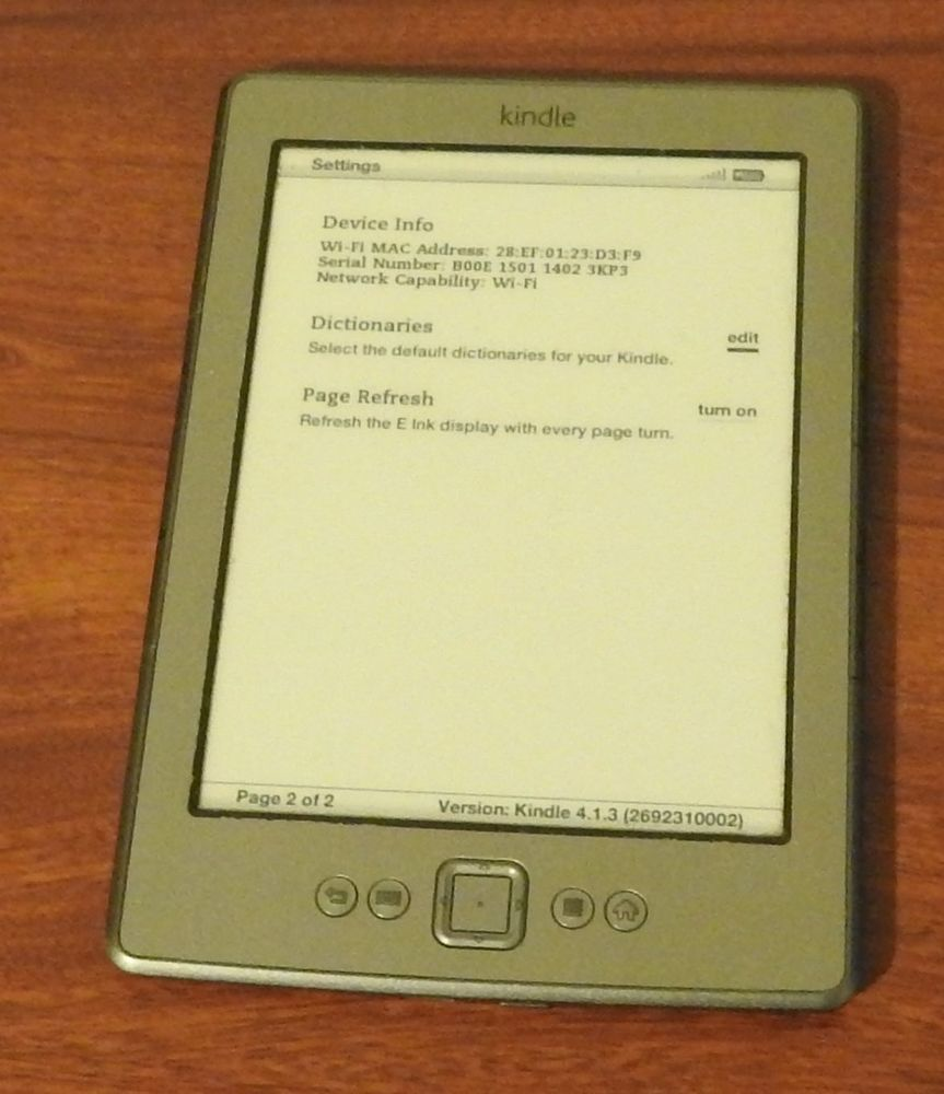 Used Amazon Kindle 4th Gen Generation 6in E Ink Display - Silver
