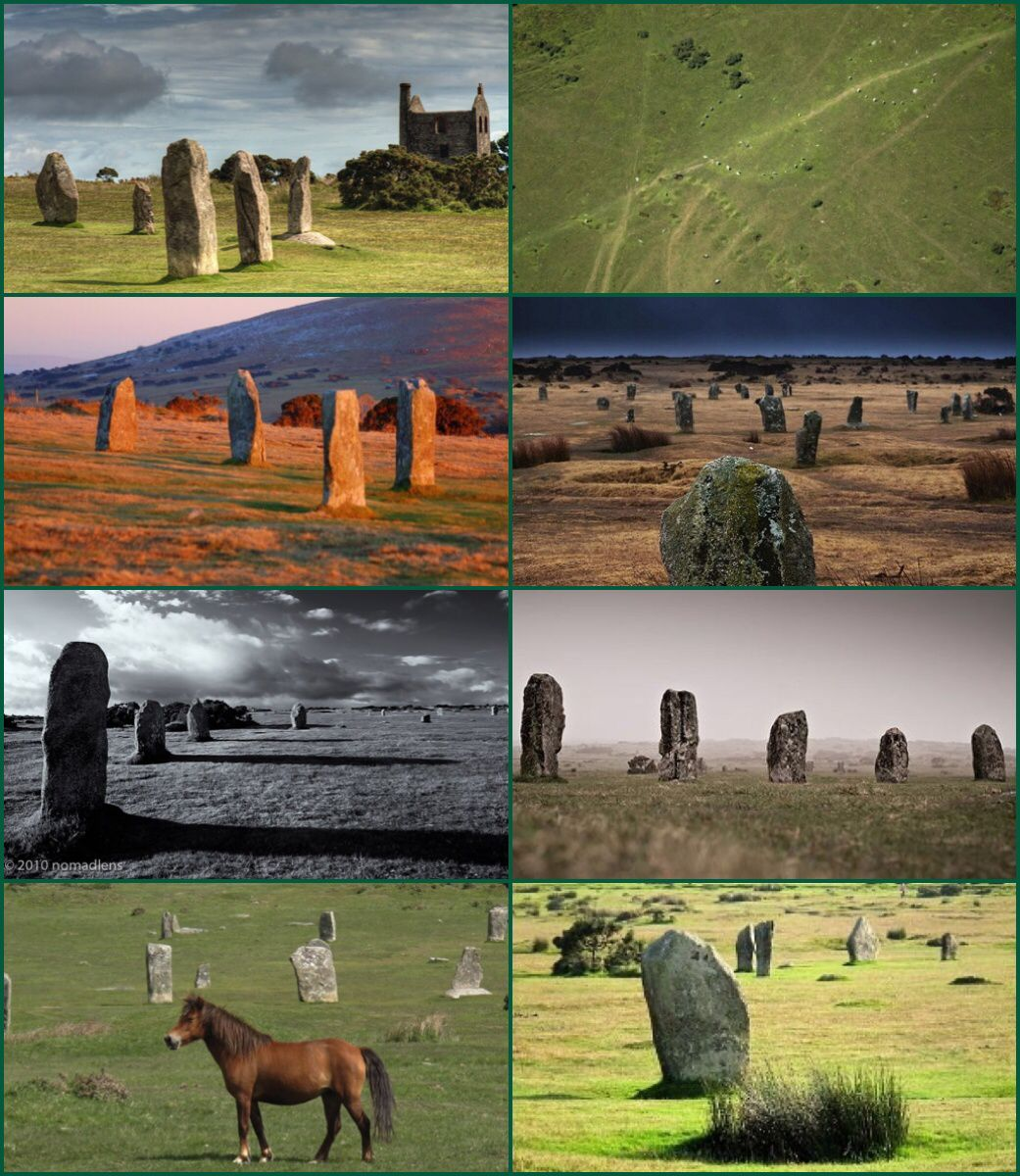The hurlers cornish an hurlysi is a group of three stone circles