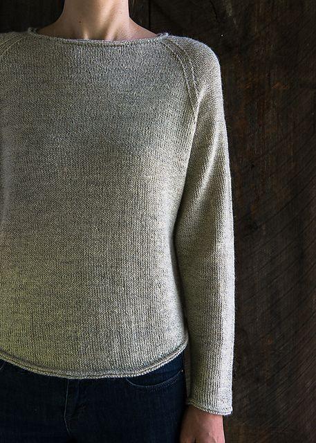 Lightweight Raglan Pullover Pattern By Purl Soho Knit Pinterest