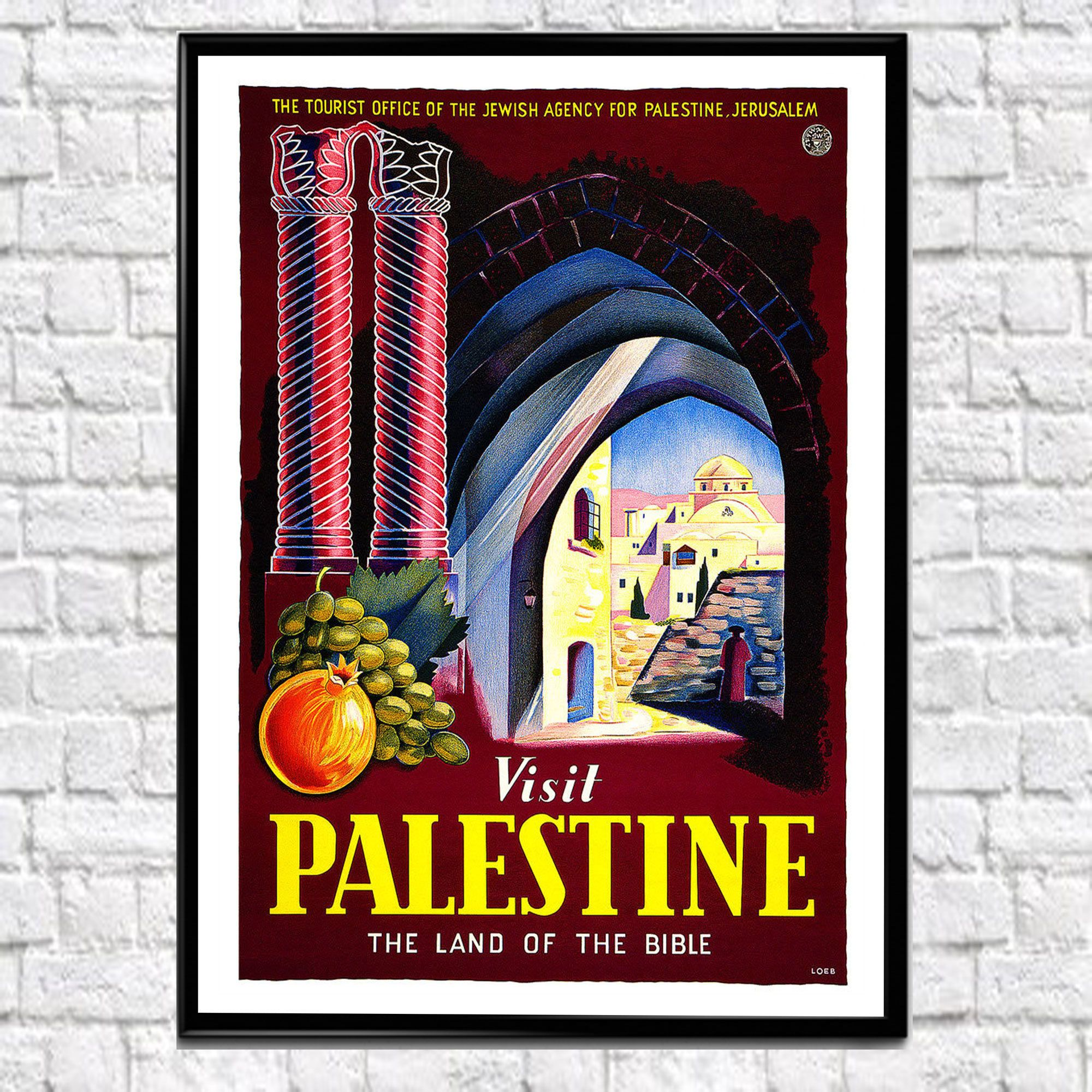Tourism Poster Palestine Travel Poster Middle East Poster Middle Eastern