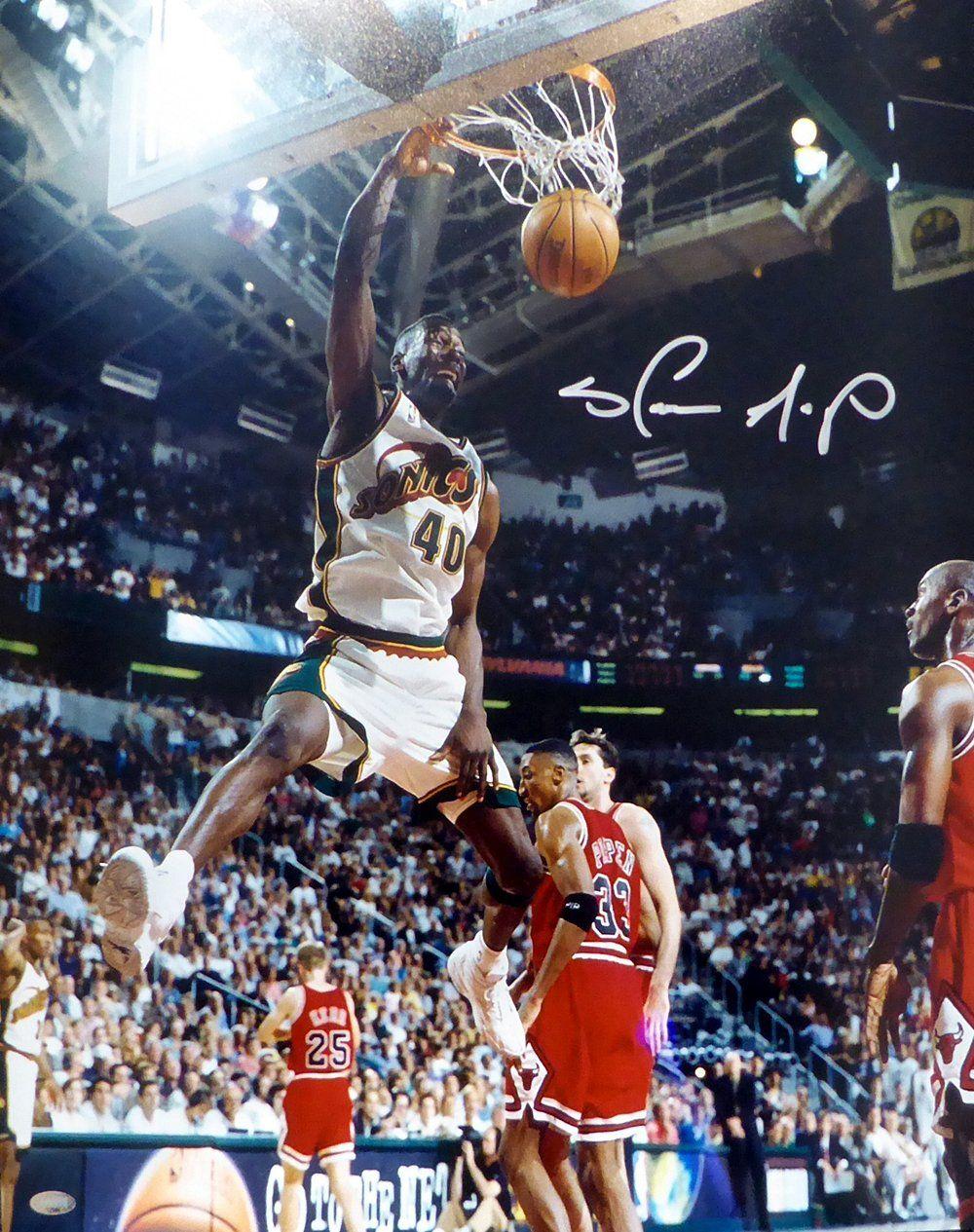 9b501016ac9db Shawn Kemp Autographed 16x20 Photo Seattle Sonics | Basketball ...