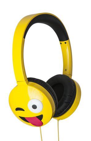 Homedics Jamoji Just Kidding Emoji Headphone Yellow Headphones Headphone Kids Headphones